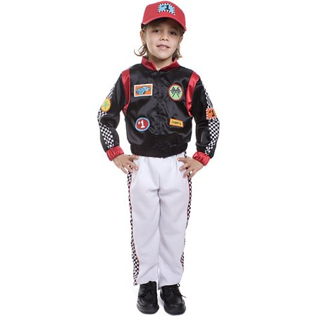 Dress Up America  Boy's 3-piece Race Car Driver - Child Race Car Driver Costume