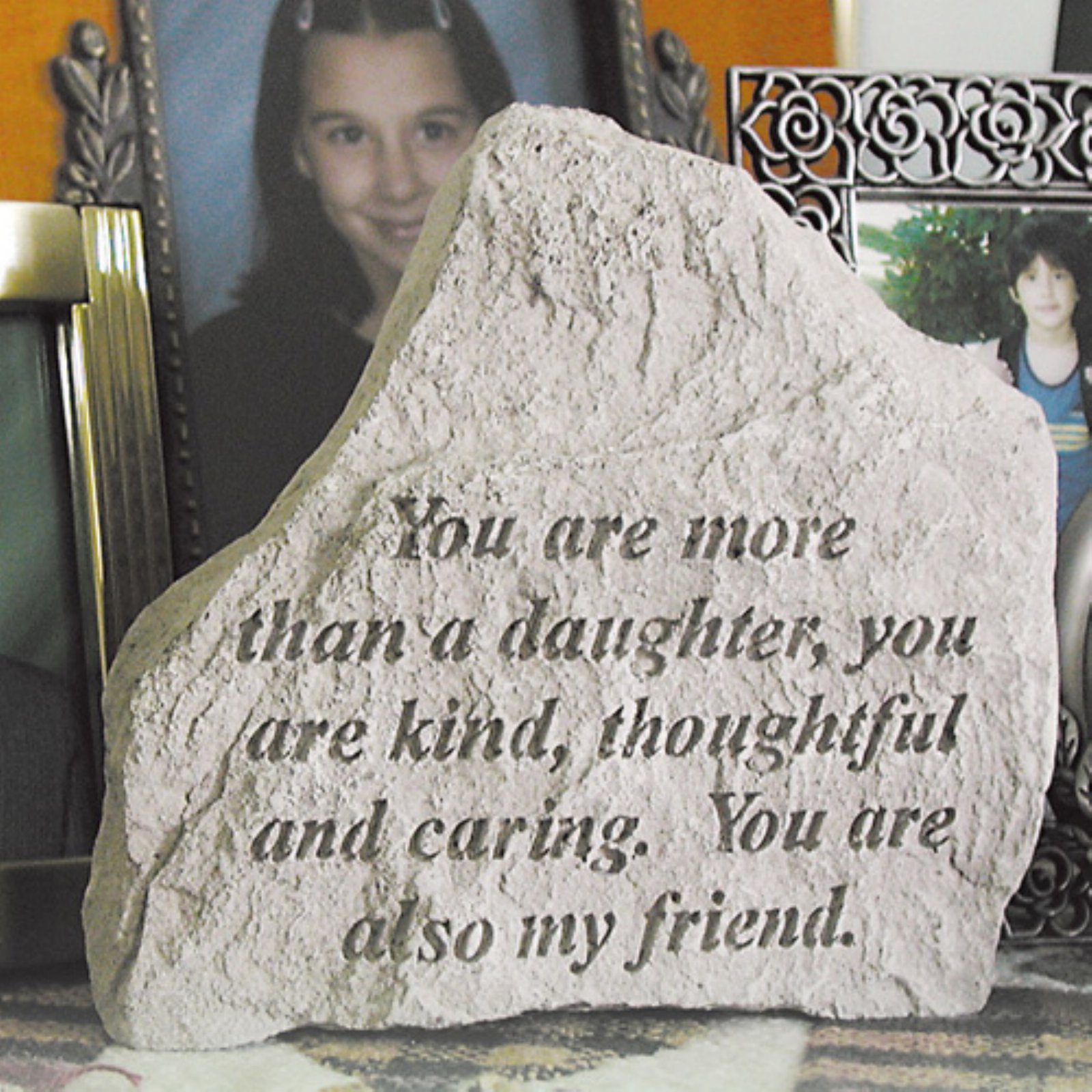 You Are More Than A Daughter Garden Accent Stone by Garden Accents