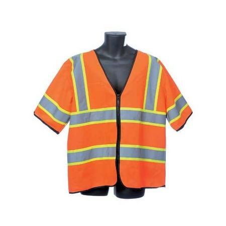 Class III Orange Tricot Vest Lot of 4 Pack s of 1 Unit