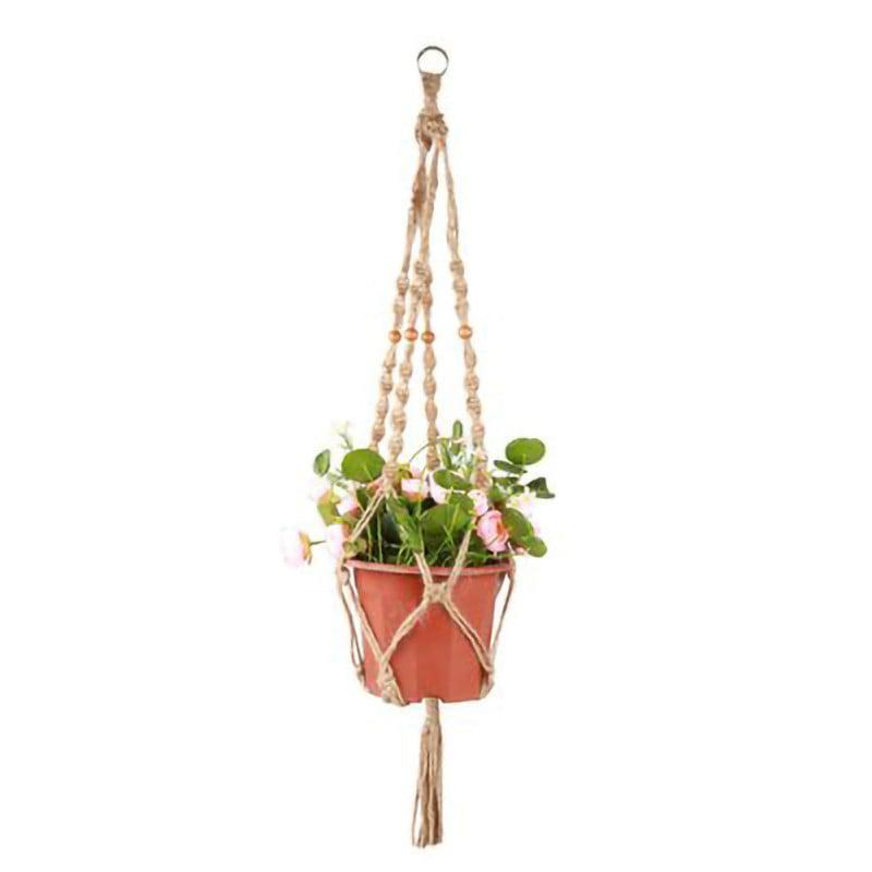 Cotton Pot Holder Macrame Plant Hanger Hanging Planter Basket Jute Braided Rope