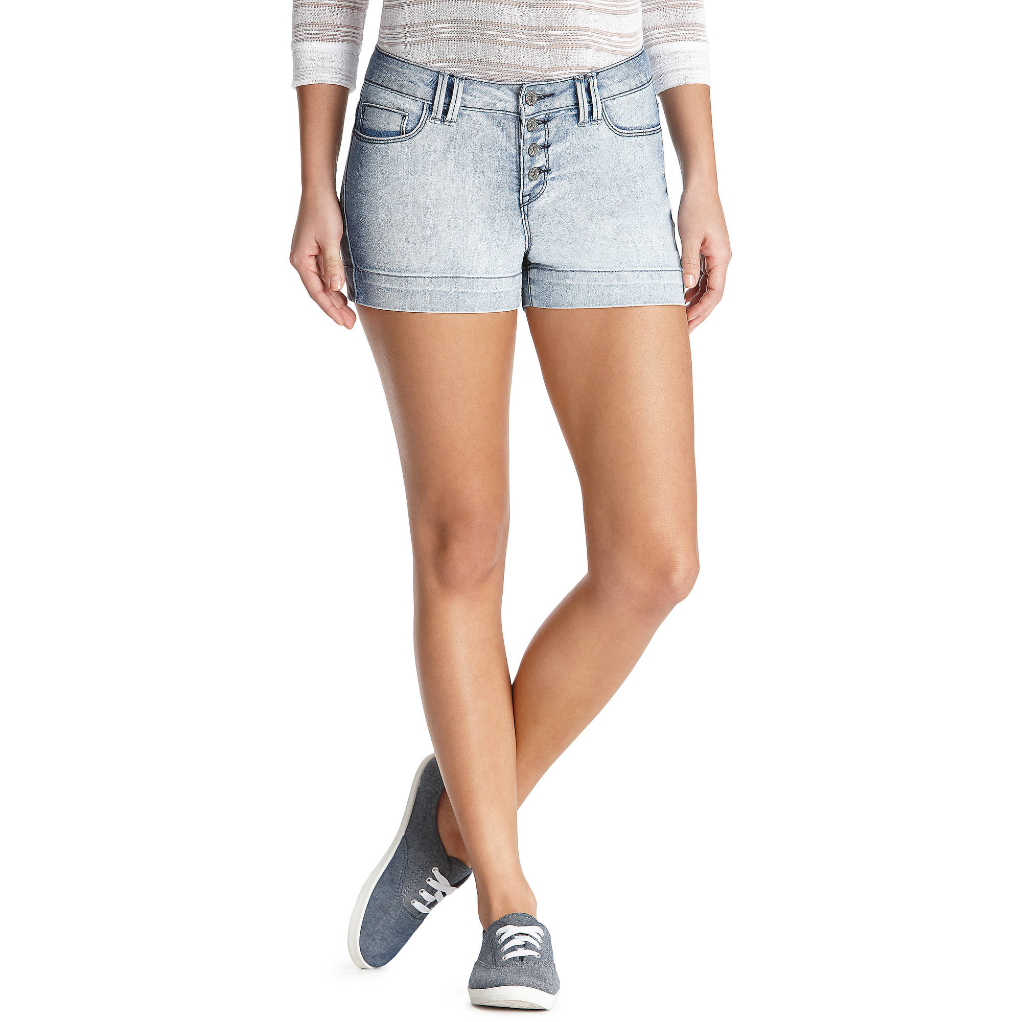 L.E.I. Juniors' High Waisted Shorts - Walmart.com