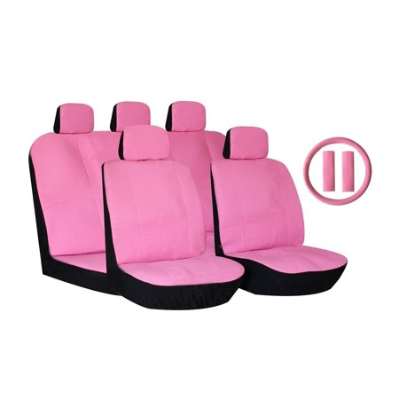 - 14 Piece Luxury Pu Synthetic Leather Universal Seat Cover Set Accent