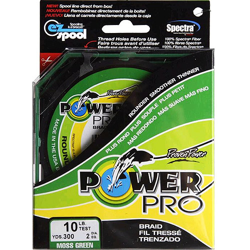 Power Pro Fishing Line - Moss Green, 300 yards, 10 lbs