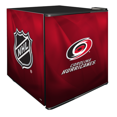 NHL Solid Door Refrigerated Beverage Center 1.8 cu ft- Carolina Hurricanes by