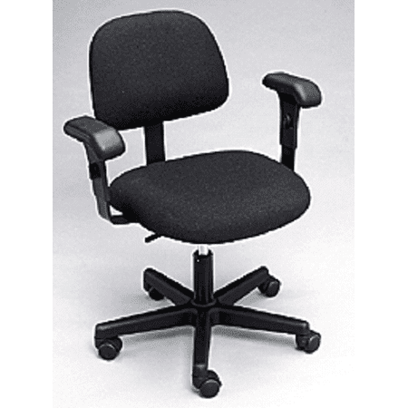 Bailey Black Rolling Adjustable Task Chair With Glides And Arm Rest