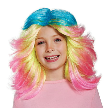 Trolls- Lady Glitter Sparkles Child Wig](Trollz Costume)