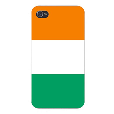 Apple iPhone Custom Case 5 / 5S White Plastic Snap On - World Country National Flags - Cote d'Ivoire (Ivory Coast) ()