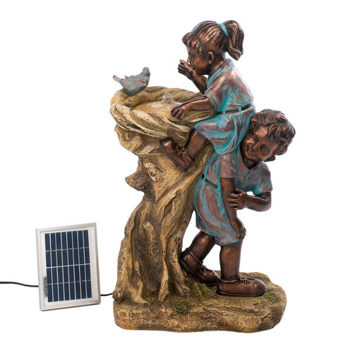 Classic Gifts and Decor Resin Solar Cool Drink Fountain