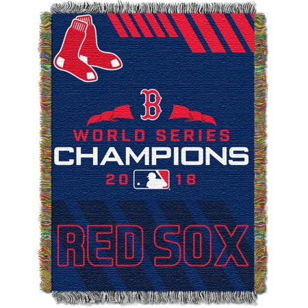 MLB Boston Red Sox 2018 World Series Champions Woven Tapestry Throw (Commemorative Woven Mlb Tapestry Throw)