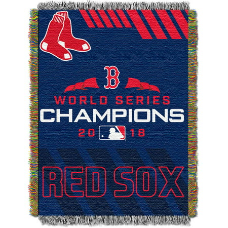 - MLB Boston Red Sox 2018 World Series Champions Woven Tapestry Throw Blanket