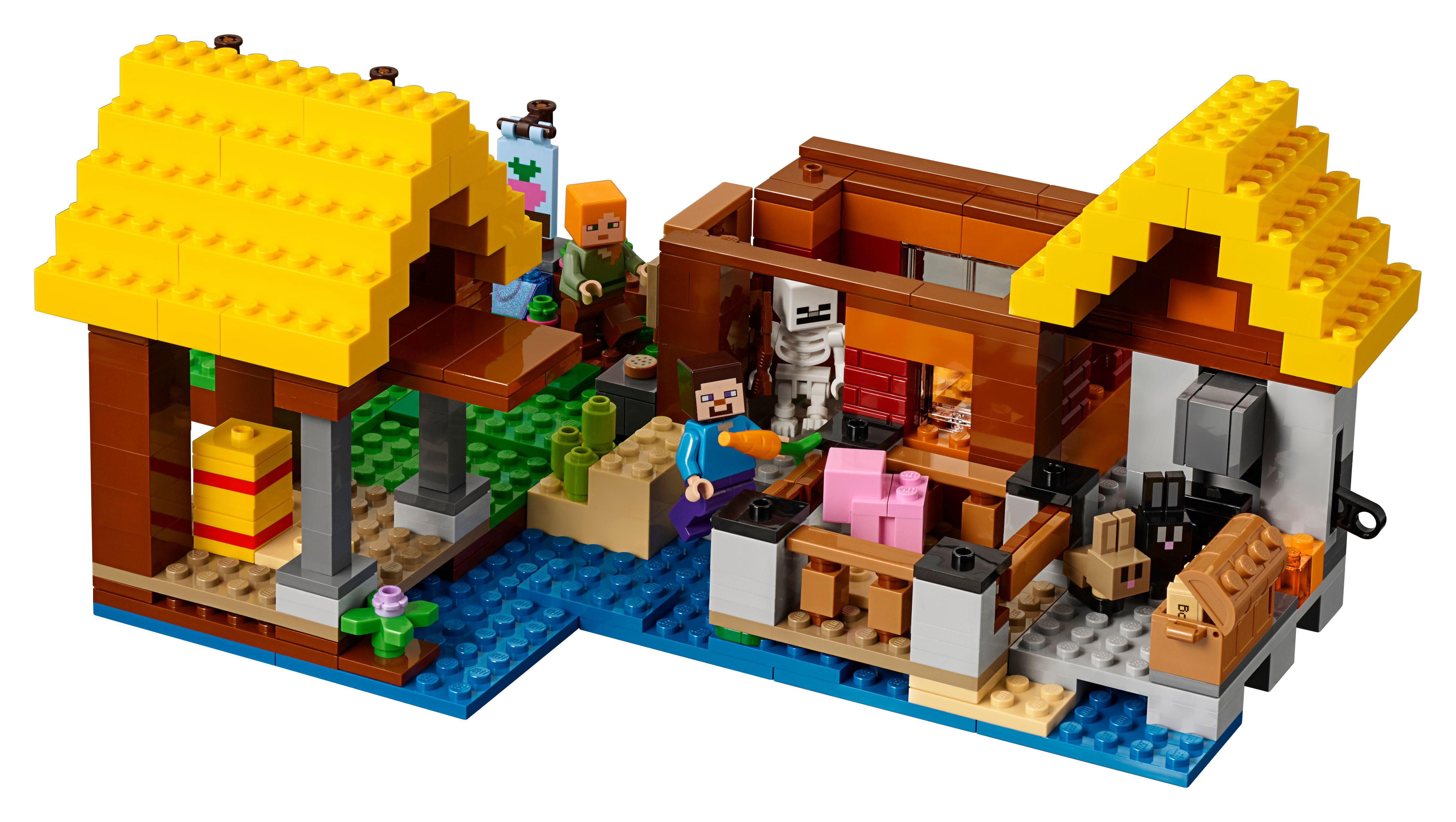 Phenomenal Lego Minecraft The Farm Cottage 21144 549 Pieces Walmart Com Download Free Architecture Designs Osuribritishbridgeorg