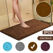 2/1PCS Chenille Bath Mat Large Size 32 X 20Inches/24x16inches Super Absorbent Water, Non-Slip, Machine-Washable, Floor Mat, Rugs for Bathroom, Bedroom, Floor