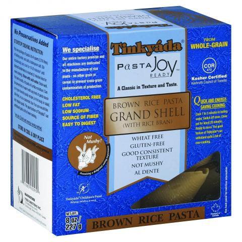 Tinkyada Gluten Free Brown Rice Grand Shell, 8 Oz
