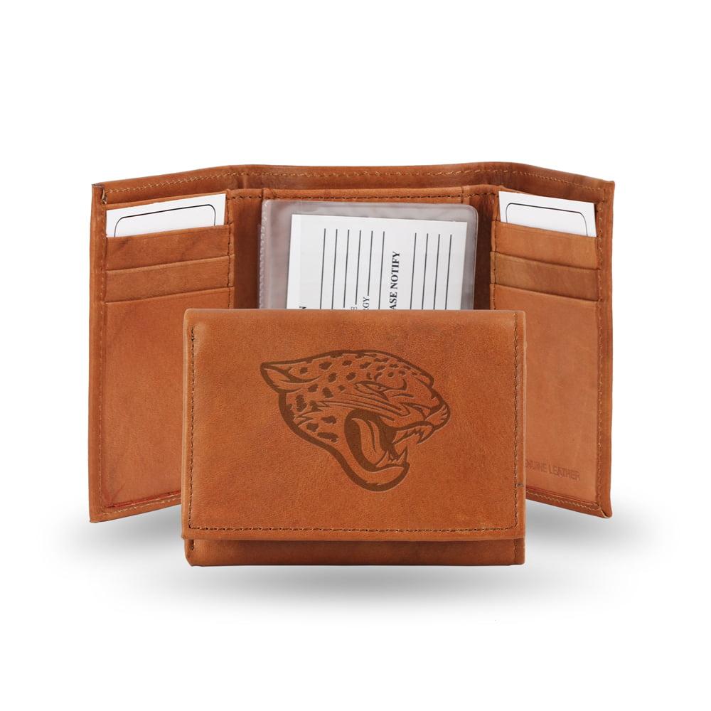 Jacksonville Jaguars NFL Tri-Fold Wallet (Pecan Cowhide)