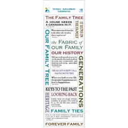 Bulk Buy: Momenta (6-Pack) Vellum Stickers Family Tree ST-0505