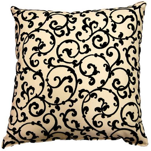 Fox Hill Trading Julia Ebony 17-inch Throw Pillows (Set of 2)