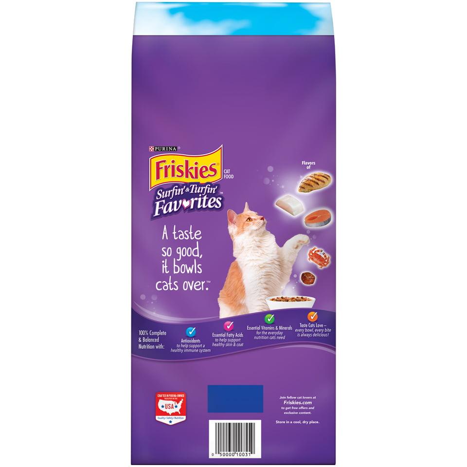 Friskies Surfin' & Turfin' Favorites Adult Dry Cat Food, 22 lb