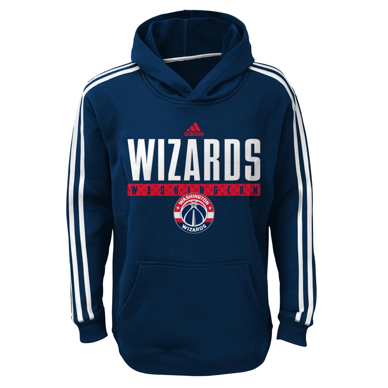 "Washington Wizards Youth NBA Adidas ""Playbook"" Pullover Performance Sweatshirt"
