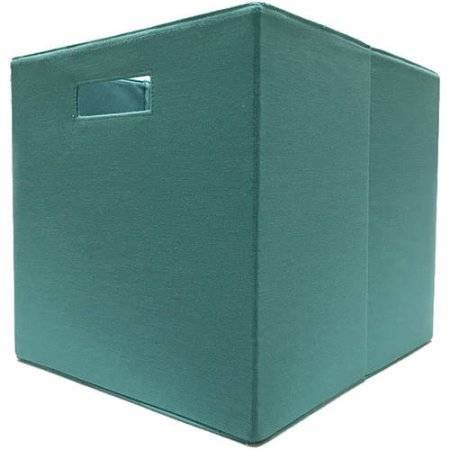 better homes and gardens fabric storage bin teal