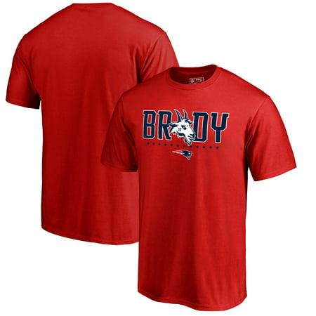 Tom Brady New England Patriots Fanatics Branded GOAT Graphic T-Shirt - Red (Tom Brady Family Halloween)