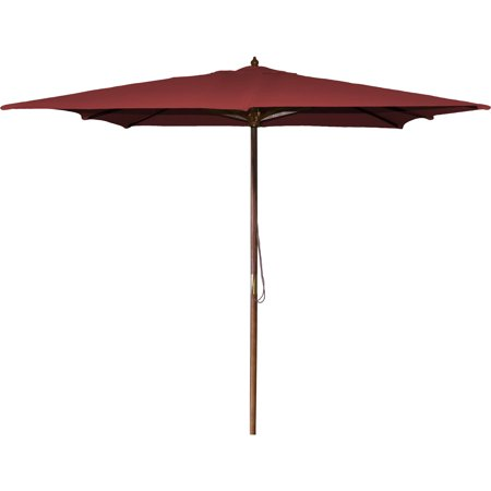 Jordan Manufacturing 8.5' Square Wood Market Umbrella ()