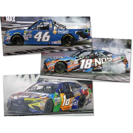 Lionel Racing Kyle Busch Bristol Win Sweep Three Car Set 2017 Toyota NASCAR Diecast 1:24 (1 18 Scale Diecast Drag Racing Cars)