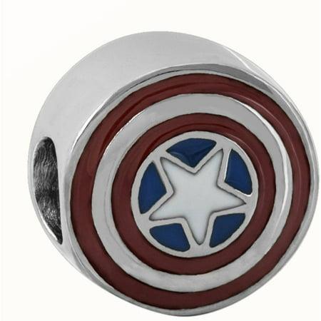 Stainless Steel Captain America Bead Captains Wheel Charm
