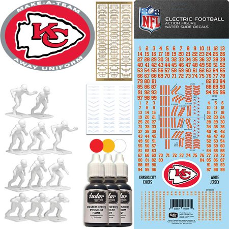 sneakers for cheap 252b8 55559 Kansas City Chiefs NFL Away Uniform Make-A-Team Kit for Electric Football