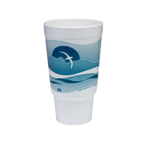 Dart Container Corp. 32 Oz Printed Horizon Foam Hot / Cold Cup (Set of 16)
