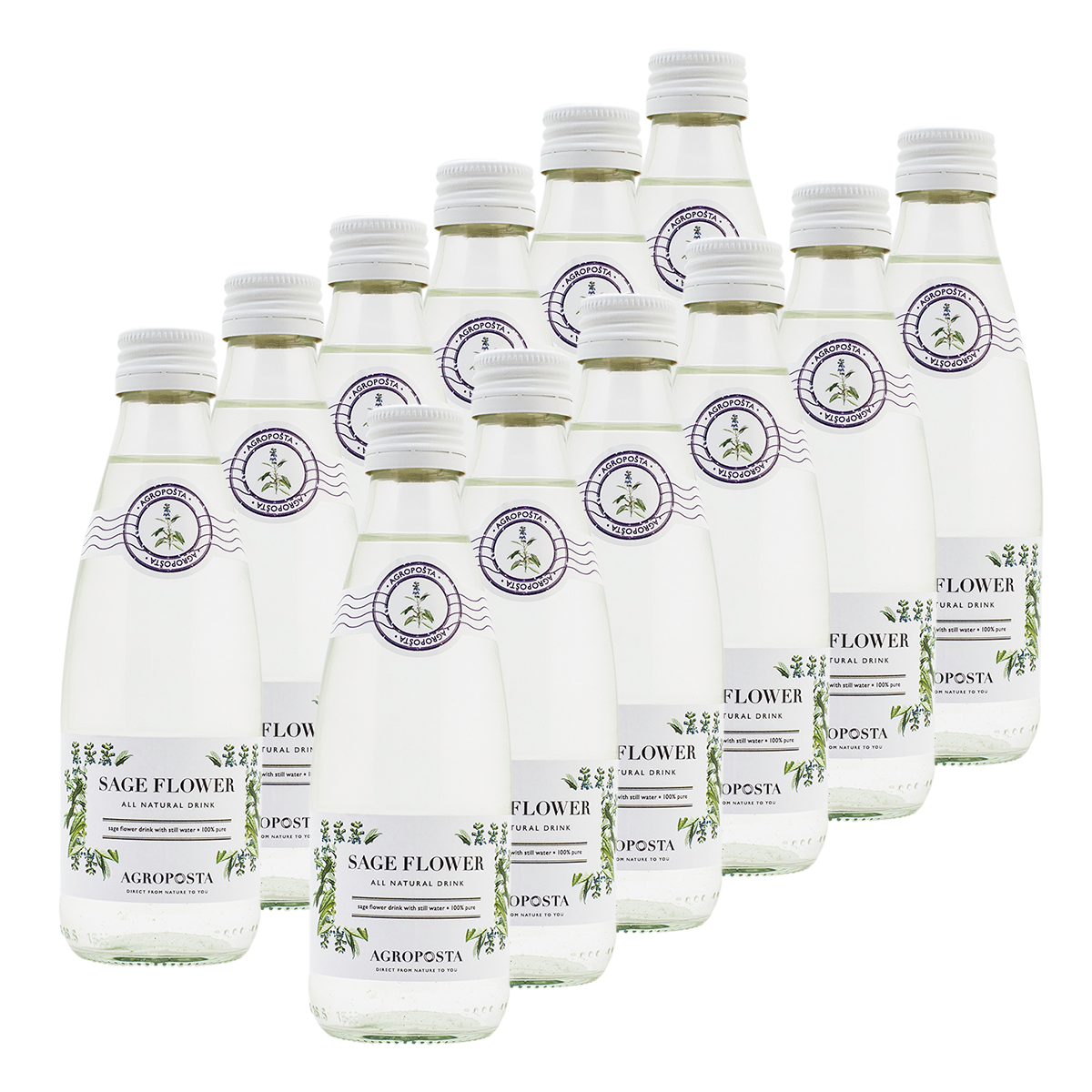 Image of AgropoÅ!ta: 100% Pure, All-Natural, Guilt-Free Drinks, Flavored Water, Sage