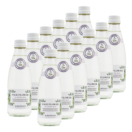 - Agroposta Organic Sage Water: 100% Natural, Low Calorie - Assorted 12 Pack Sage