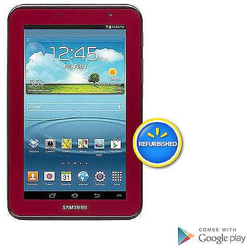 "Samsung Galaxy Tab 2 7"" Tablet with 8GB Memory -Garnet Red (Refurbished)"