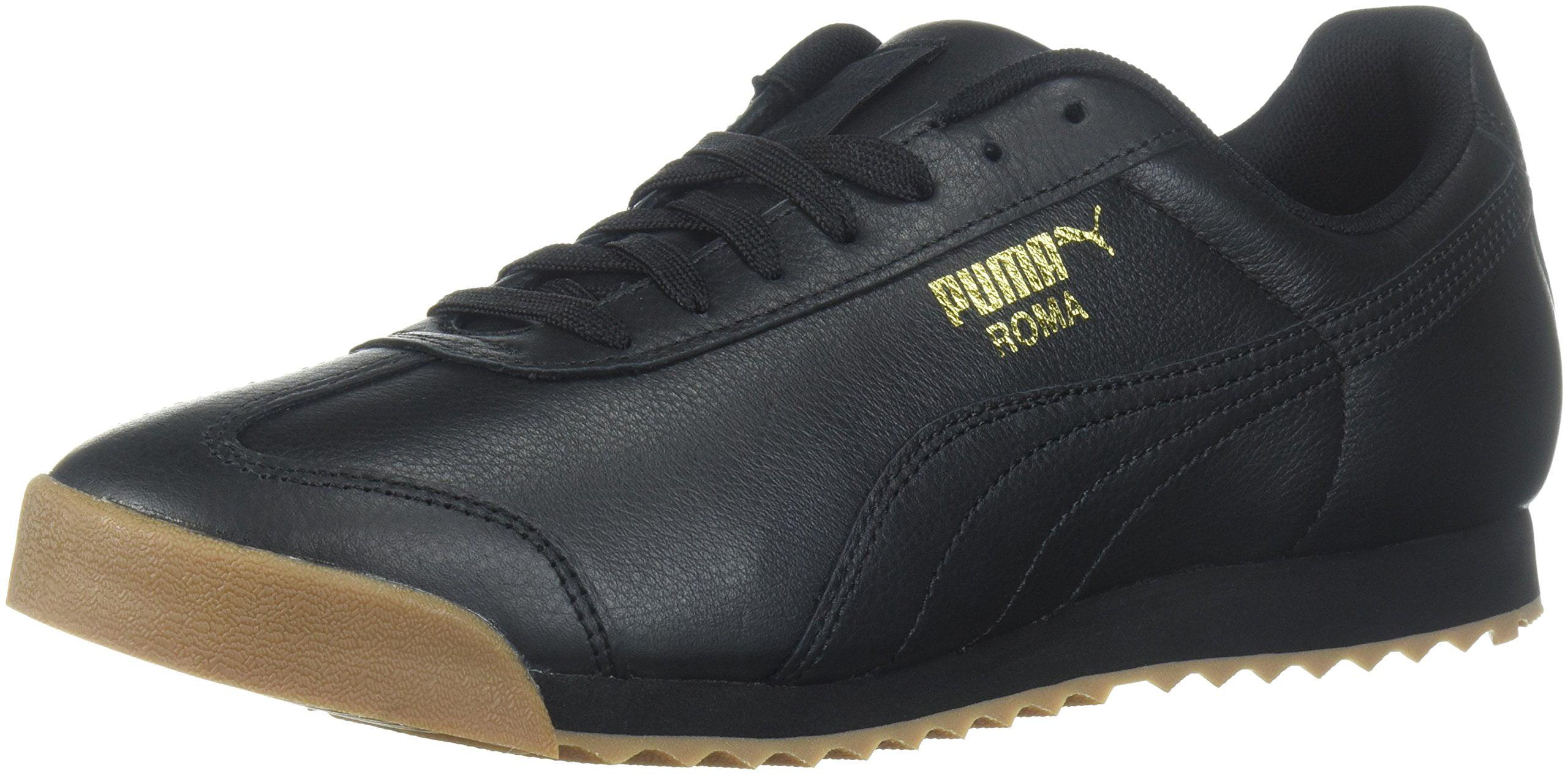 Men's Roma Classic Gum Sneaker Black