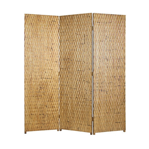 Screen Gems 74'' x 63'' Gilded Screen 3 Panel Room Divider