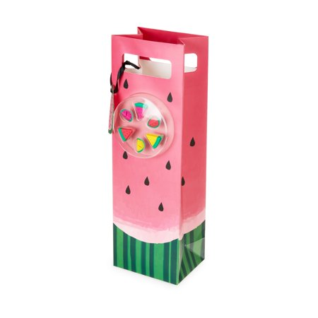 CAKEWALK Watermelon Closeup Bag with Wine Markers