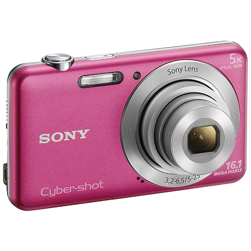 Sony DSC-W710 Pink Digital Camera with 16.1 Megapixels and 5x Optical Zoom