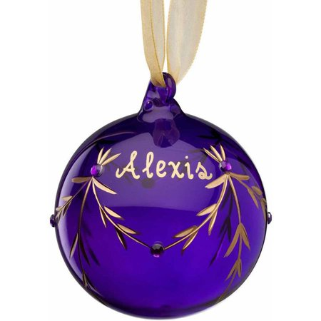 Personalized Glass Christmas Ornament - February Birthstone](Personalized Football Ornaments)