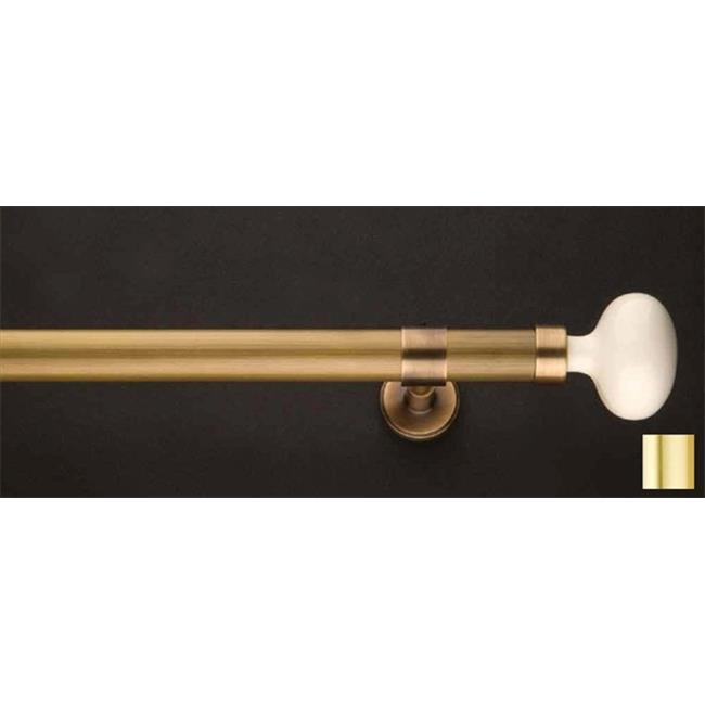 WinarT USA 8. 1164. 20. 03. 200 Flora 1164 Curtain Rod Set -. 75 inch - Matte Brass - 78 inch