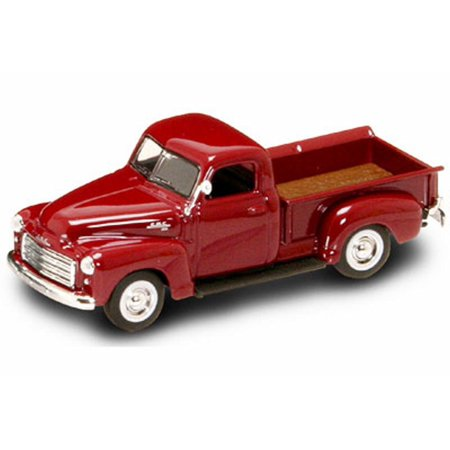 1950 GMC Pickup Truck, Red - Yatming 94255 - 1/43 Scale Diecast Model Toy Car ()