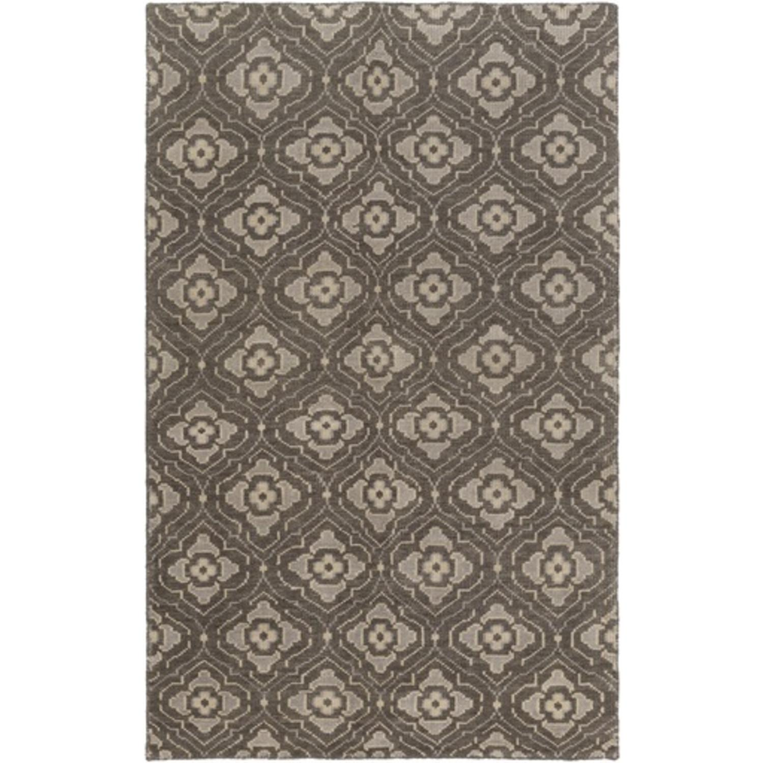5' x 8' Egyptian Bloom Chocolate and Tan Brown Area Throw Rug
