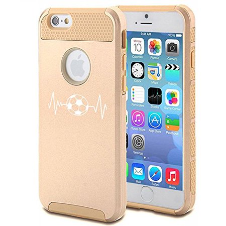 Apple iPhone 5 5s Shockproof Impact Hard Case Cover Heartbeats Soccer