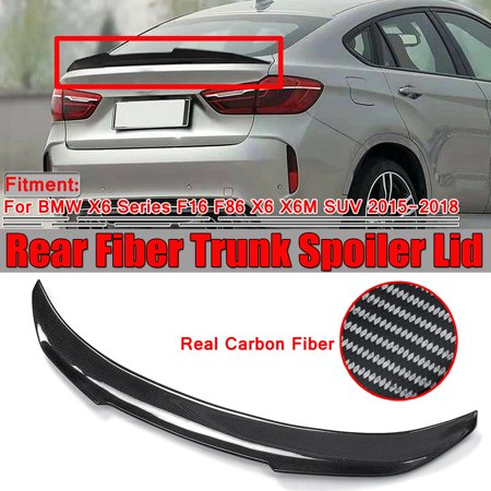 For BMW X6 Series F16 F86 X6 X6M SUV 15-18 PSM Style Carbon Fiber Trunk Spoiler  - image 1 of 1