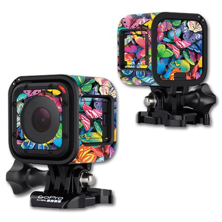 Gopro Halloween Party (Skin For GoPro Hero4 Session – Butterfly Party | MightySkins Protective, Durable, and Unique Vinyl Decal wrap cover | Easy To Apply, Remove, and Change Styles | Made in the)