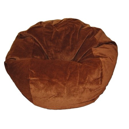 Ahh! Products  - 27 Inch Wide Washable Kid Bean Bag Chair - Microsuede Chocolate
