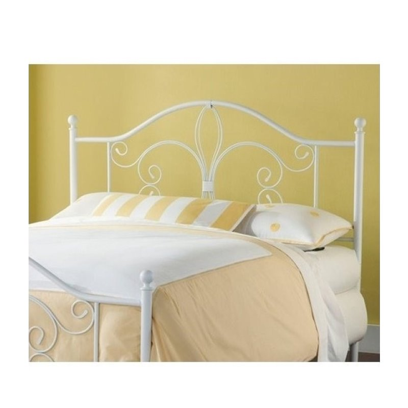 Hawthorne Collections Twin Metal Headboard in White