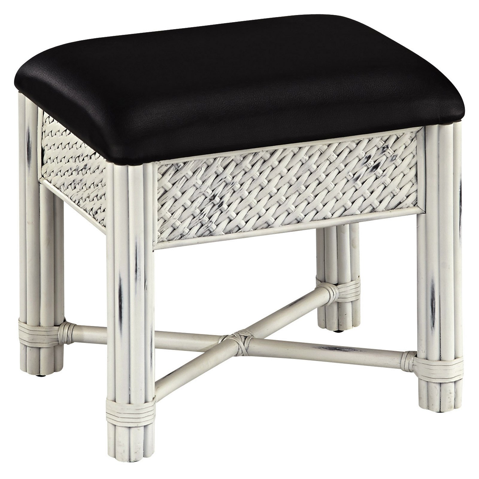 Marco Island Vanity Bench, White Finish by Home Styles