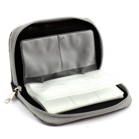 Nylon 22 Slots Storage Carrying Pouch Case Box Bag Gray for CF MMC Micro SD Card