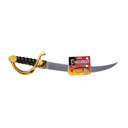 - Star Power Long Buccaneer Pirate Sword, Gold Black, 21.5