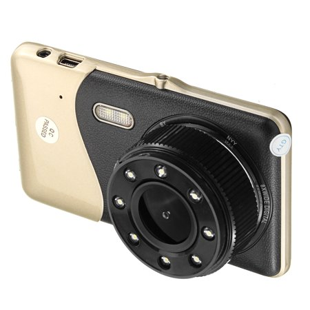 "4"" Dual Lens Car DVR Camera Dash Cam Video Rear Recorder G-Sensor Night Vision HD 1080P  - image 7 of 11"