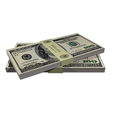 Casino Hundred Dollar Bills Edible Icing image Cake Toppers